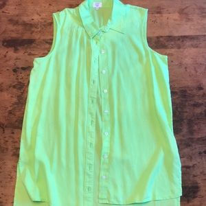 🍋Crown and Ivy Beach high low lime tunic Petite M